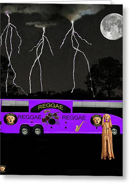 Tour Bus Mixed Media Greeting Cards - Jamaica Greeting Card by Eric Kempson