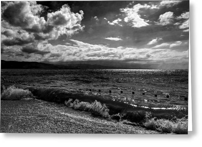 Montego Bay Greeting Cards - Jamaica - Montego Bay 004 BW Greeting Card by Lance Vaughn