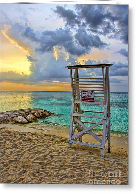 Ocean Photography Greeting Cards - Jamaica Sunset Greeting Card by Keith Ducker