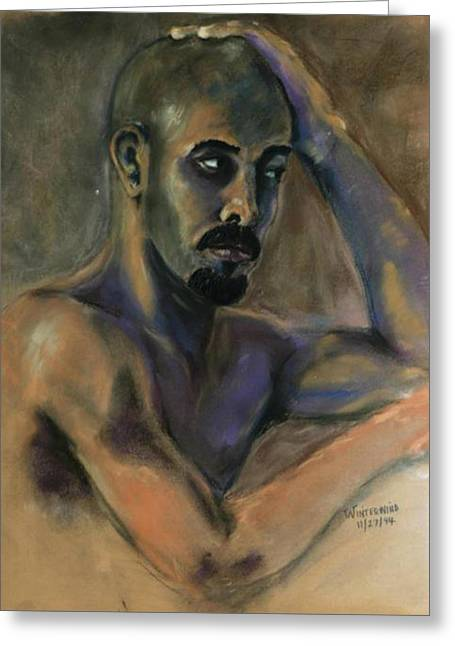 African-american Pastels Greeting Cards - Jamal Greeting Card by Dan Earle