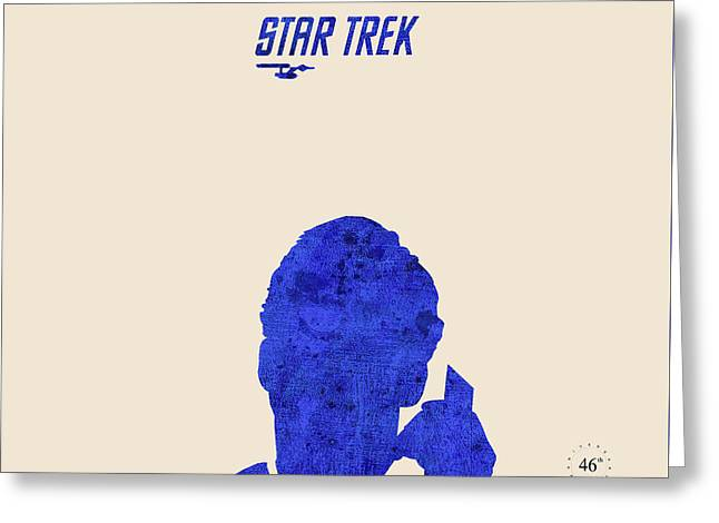 Enterprise Mixed Media Greeting Cards - James at the phone - Star Trek Greeting Card by Pablo Franchi
