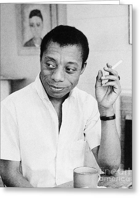 1950s Portraits Photographs Greeting Cards - James Baldwin (1924-1987) Greeting Card by Granger