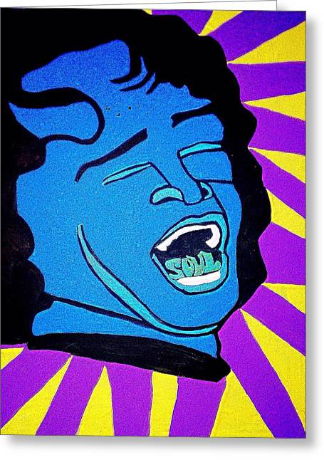 Rnb Greeting Cards - James Brown Greeting Card by Breanna Lewis