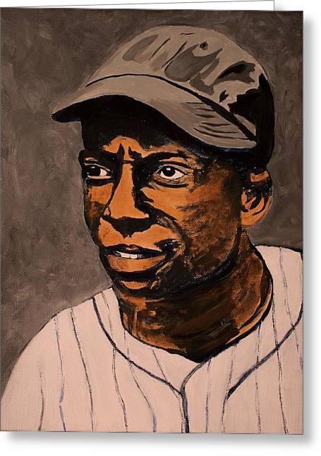 Negro League Greeting Cards - James Cool Papa Bell Greeting Card by Ralph LeCompte