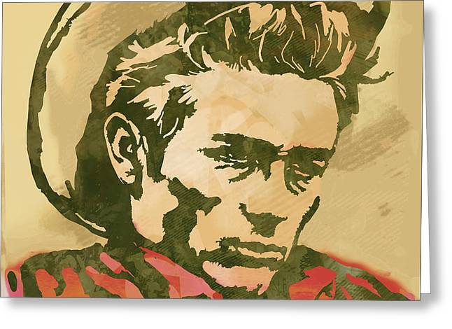James Dean  -  Etching Pop Art Poster Greeting Card by Kim Wang