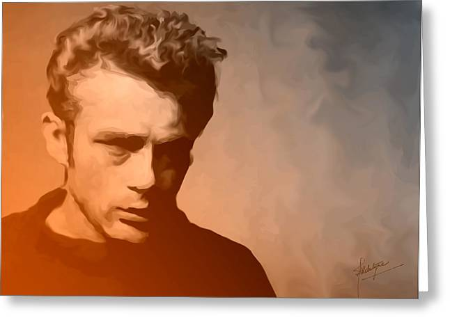 Man Without A Star Greeting Cards - James Dean Greeting Card by Debbie McIntyre