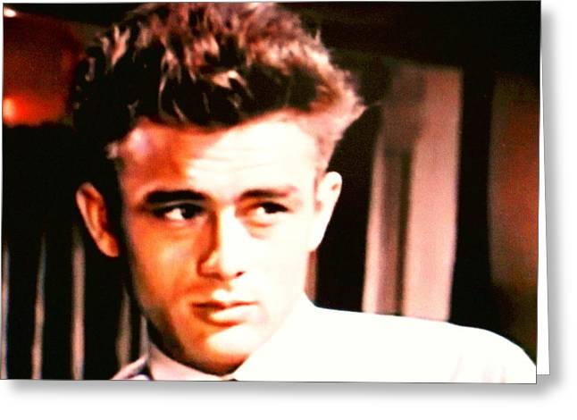 Monica Warhol Greeting Cards - James Dean Greeting Card by Dietmar Scherf