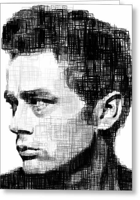 James Dean Drawings Greeting Cards - James Dean Greeting Card by Harold Belarmino