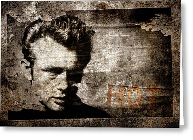 Torn Greeting Cards - James Dean HOT Greeting Card by Carol Leigh