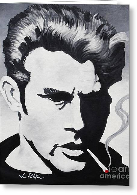 Joseph Palotas Greeting Cards - James Dean  Greeting Card by Joseph Palotas