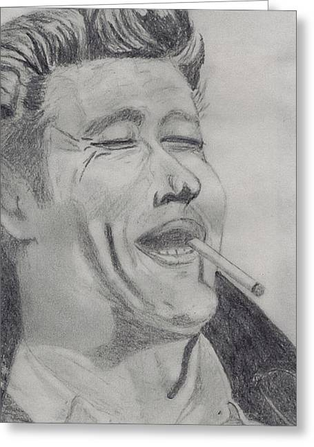 James Dean Drawings Greeting Cards - James Dean Greeting Card by Shawn Sanderson