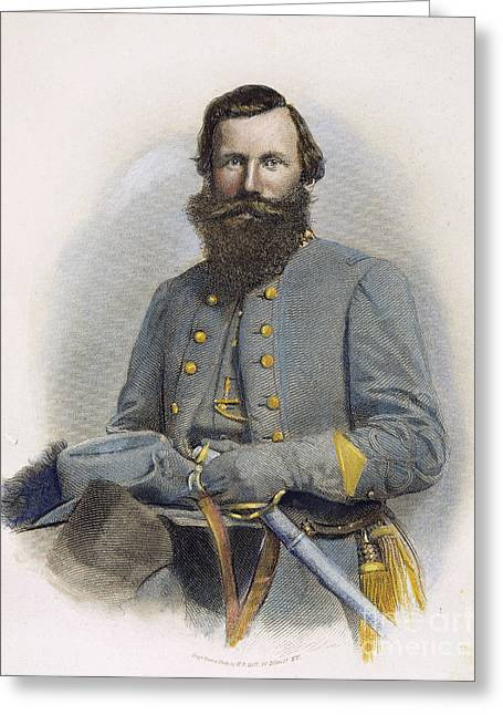 Confederate Army Greeting Cards - James E. B. Jeb Stuart Greeting Card by Granger