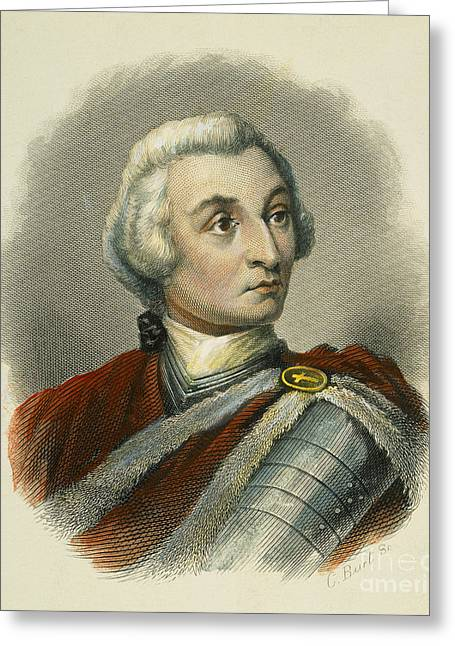 18th Century Greeting Cards - James Edward Oglethorpe Greeting Card by Granger
