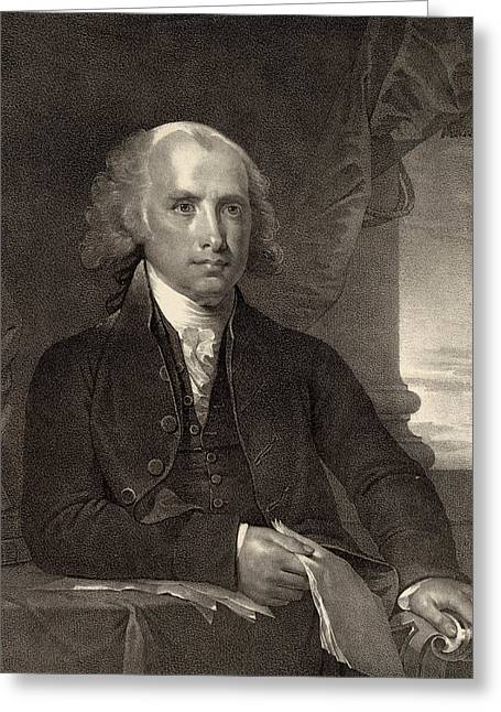 American Politician Greeting Cards - James Madison - fourth President of the United States of America Greeting Card by International  Images