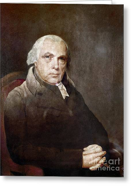 1817 Greeting Cards - James Madison (1751-1836) Greeting Card by Granger