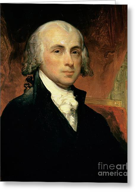 Canvas Greeting Cards - James Madison Greeting Card by American School