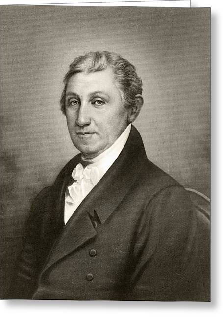 James Monroe 1758 To 1831. Fifth Greeting Card by Vintage Design Pics