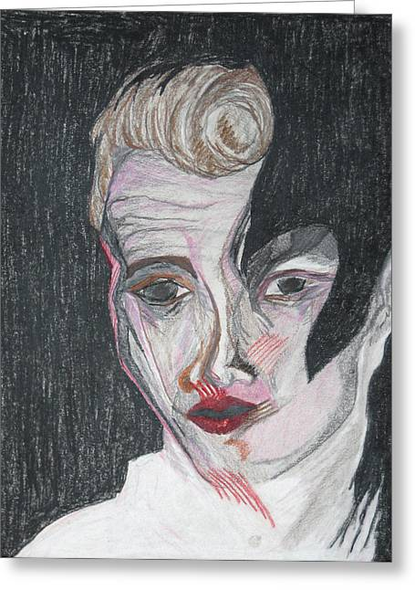 Merged Mixed Media Greeting Cards - jamesBowie Greeting Card by Darkest Artist