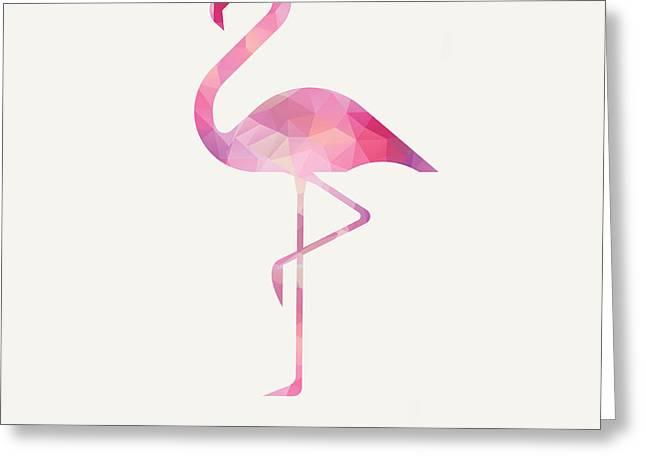 James's Flamingo Greeting Card by Taylan Soyturk
