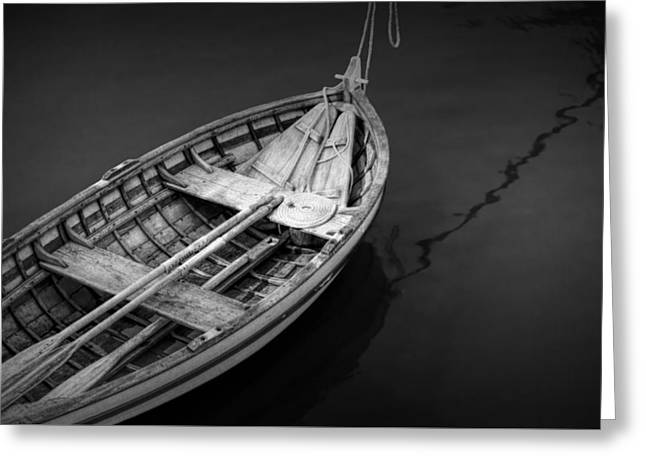 Historic Site Greeting Cards - Jamestown Wooden Rowboat Greeting Card by Randall Nyhof