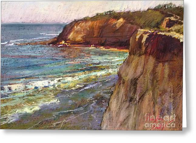 Cliffs Pastels Greeting Cards - Jan Juc Greeting Card by Pamela Pretty