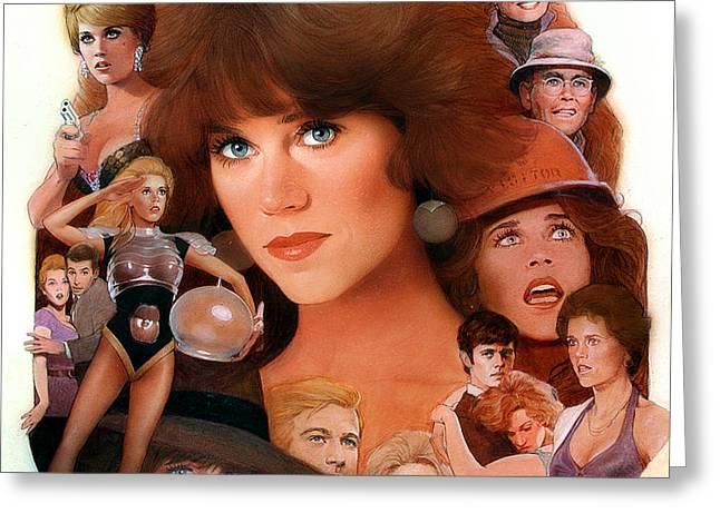 Jane Fonda Tribute Greeting Card by Bill Mather