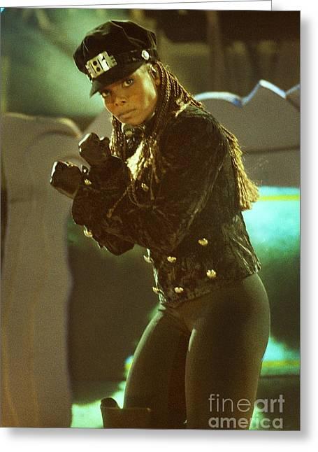 Live Art Greeting Cards - Janet Jackson 94-3022 Greeting Card by Gary Gingrich Galleries