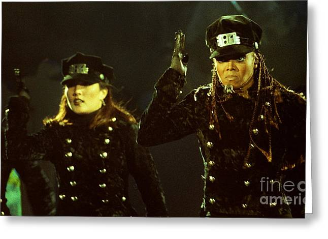 Famous Artist Greeting Cards - Janet Jackson 94-3026 Greeting Card by Gary Gingrich Galleries