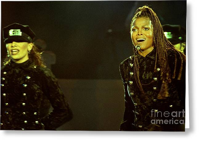 Live Art Greeting Cards - Janet Jackson 94-3034 Greeting Card by Gary Gingrich Galleries