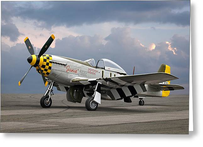 Janie P-51 Greeting Card by Gill Billington