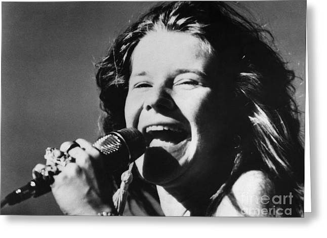 Janis Joplin (1943-1970) Greeting Card by Granger
