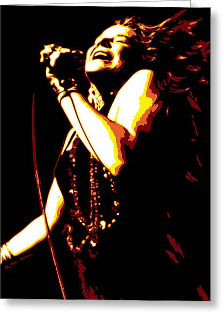 Janis Joplin Greeting Card by DB Artist