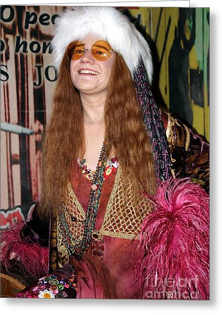 Jani Greeting Cards - Janis Joplin Greeting Card by Sophie Vigneault