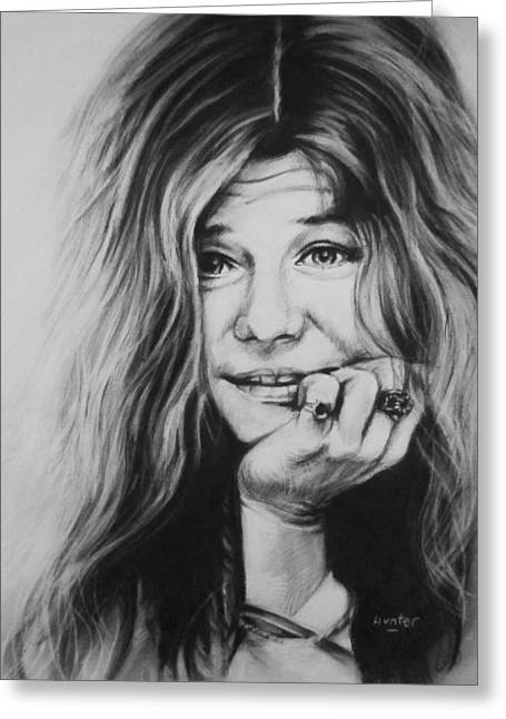 Janis Joplin Greeting Card by Steve Hunter