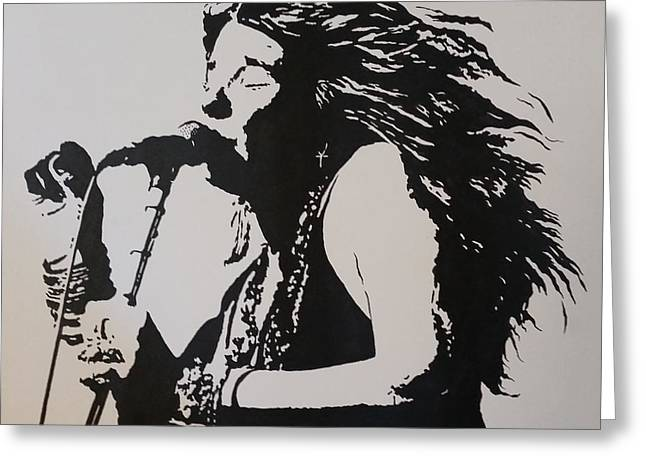 Janis Greeting Card by Steven White