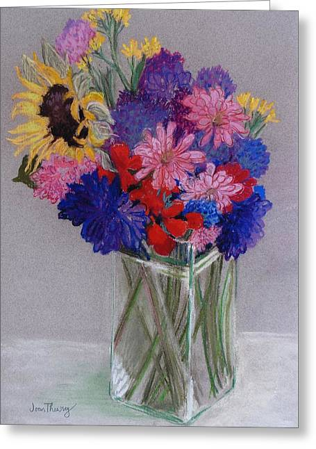 Signature Pastels Greeting Cards - Jans Flowers Greeting Card by Joan Thewsey