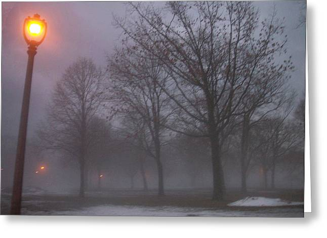 January Photographs Greeting Cards - January fog 3 Greeting Card by Anita Burgermeister