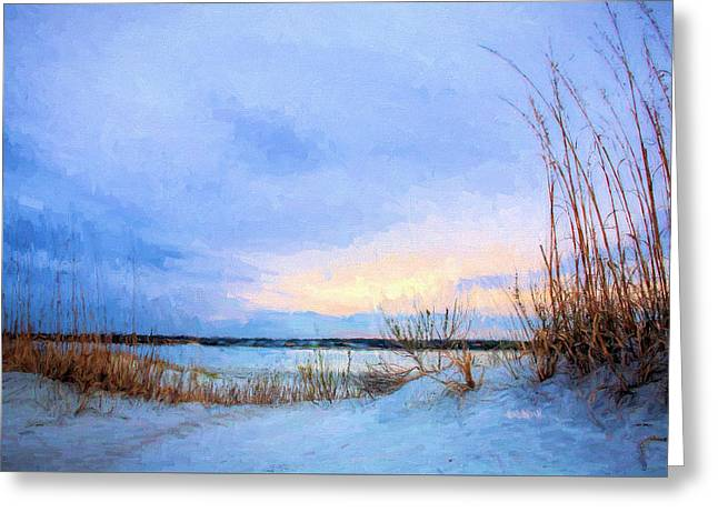 January In Panama City Beach Greeting Card by JC Findley