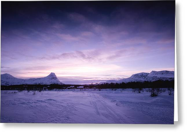 January Greeting Card by Tor-Ivar Naess
