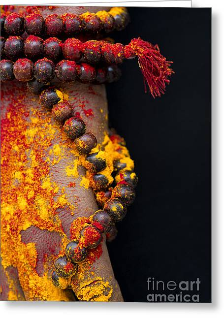 Praying Hands Greeting Cards - Japa Greeting Card by Tim Gainey
