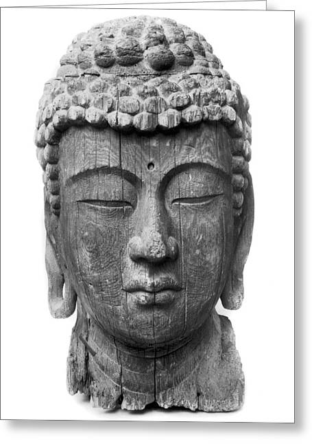Statue Portrait Greeting Cards - Japan: Buddha Greeting Card by Granger