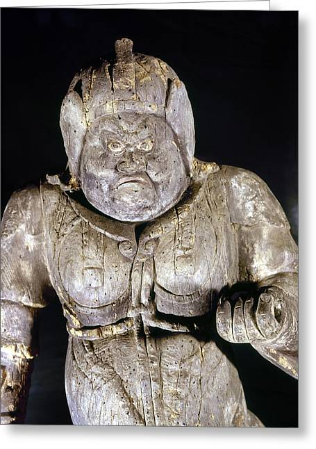 Statue Portrait Greeting Cards - Japan: Buddhist Statue Greeting Card by Granger