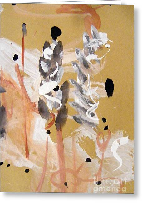 Gouache Abstract Greeting Cards - Japan Greeting Card by Nancy Kane Chapman