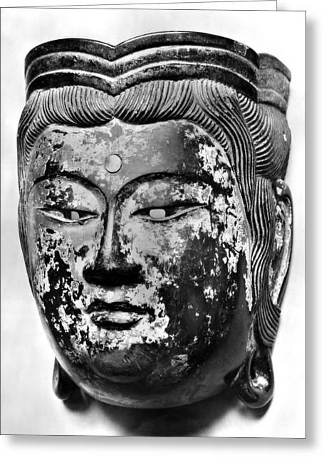 11th Century Greeting Cards - Japanese Bodhisattva Mask Greeting Card by Granger