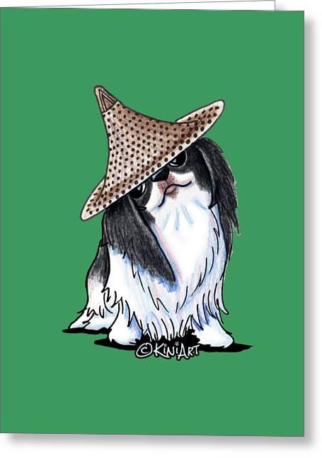 Japanese Chin  Greeting Card by Kim Niles