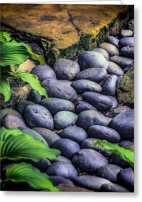 Quite Greeting Cards - Japanese Rock Garden Greeting Card by Julie Palencia