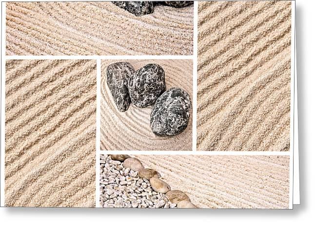 Sand Pattern Greeting Cards - Mineral garden  Greeting Card by Delphimages Photo Creations