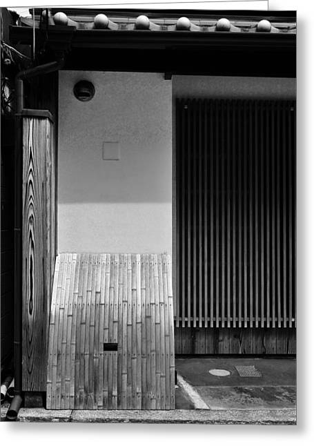 Bamboo House Greeting Cards - Japanese texture #47 Greeting Card by Hieu Tran