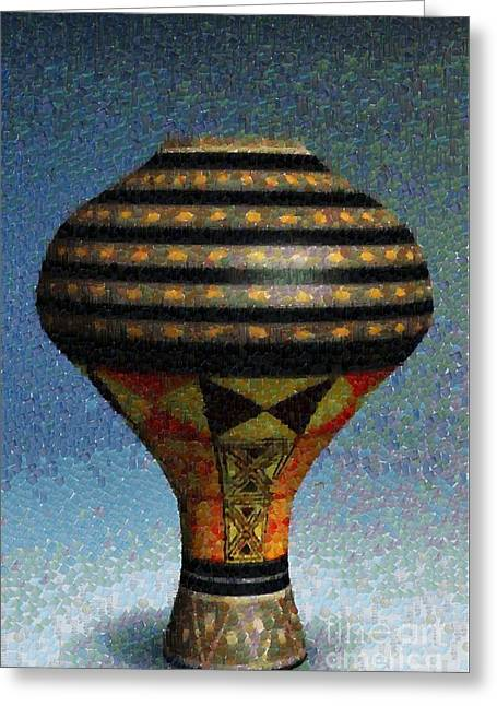 Chatty Greeting Cards - Jar in dots and stripes Greeting Card by Magomed Magomedagaev