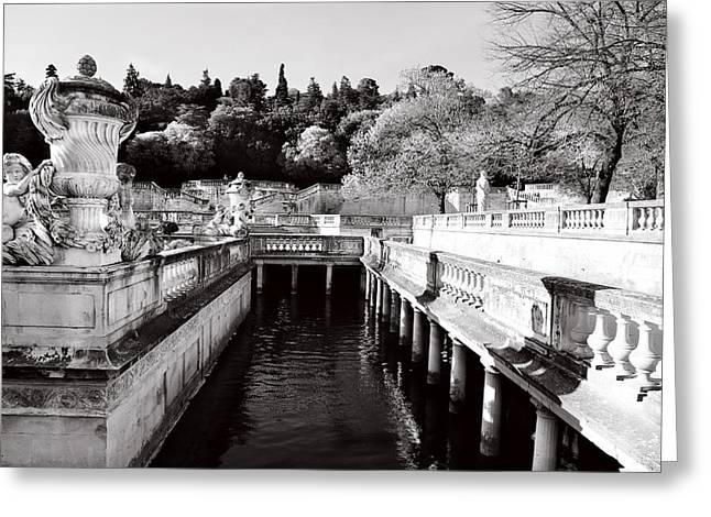 Public Bath Greeting Cards - Jardin De La Fontaine 2 Greeting Card by Andrew Fare